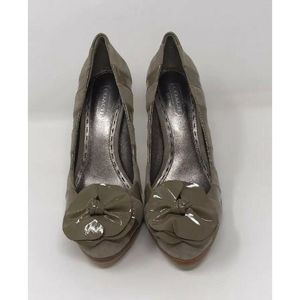 Coach Clay/Tan Swade and leather women's Heels 5.5